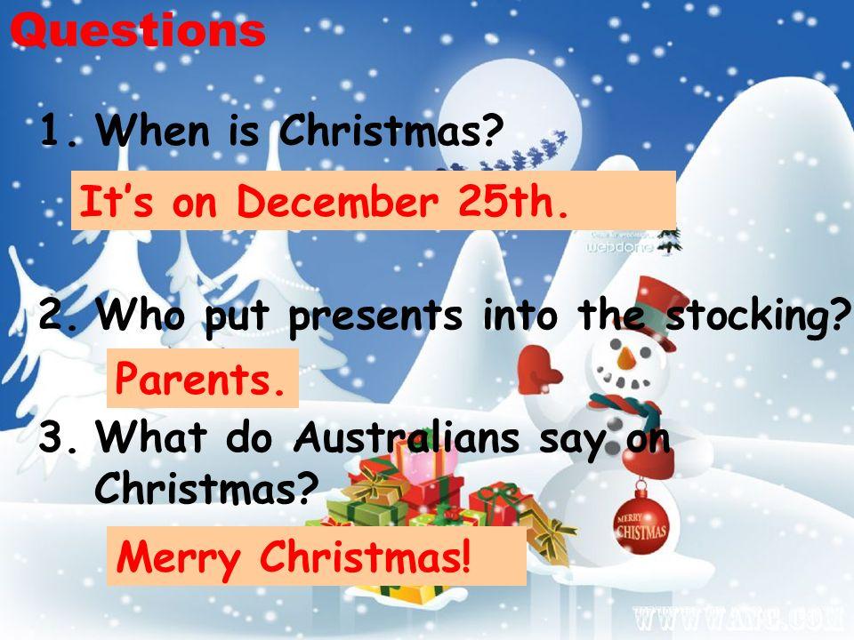When Is Christmas In Australia.Duty Report Christmas In Australia December 25th Ppt Download
