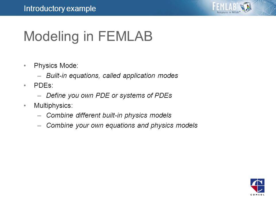 Multiphysics Modeling F EMLAB 2 3 Prague Nov 7, 2002 Kristin Bingen