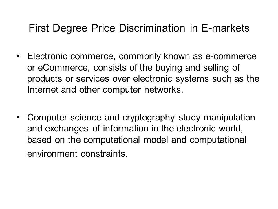 internet price discrimination
