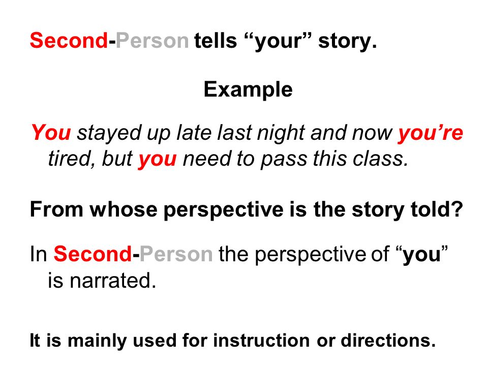 2nd person examples