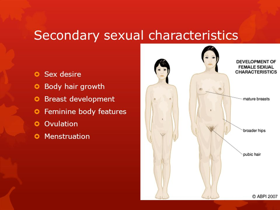 Secondary sexual 15