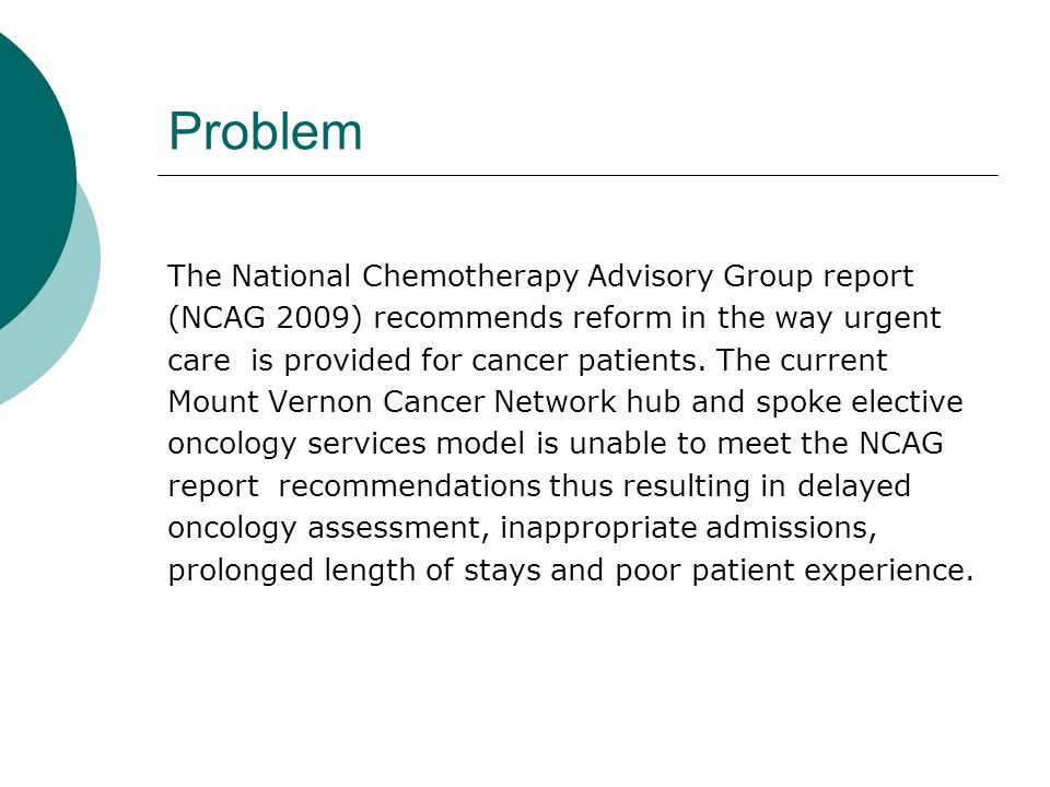 A systematic approach to dealing with cancer related