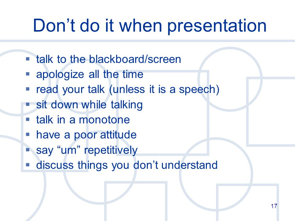 things to talk about in a presentation