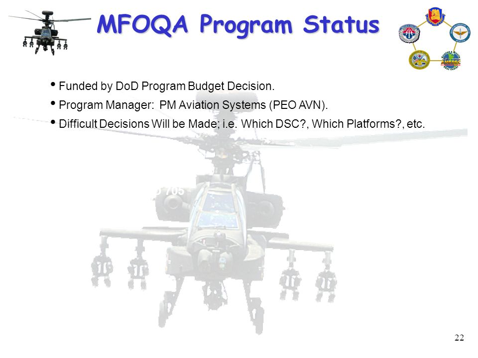 1 Military Flight Operations Quality Assurance (MFOQA) Information Briefing by Mr. Jody Creekmore US Army Aviation and Missile Command September 2005 If. - ppt download - 웹
