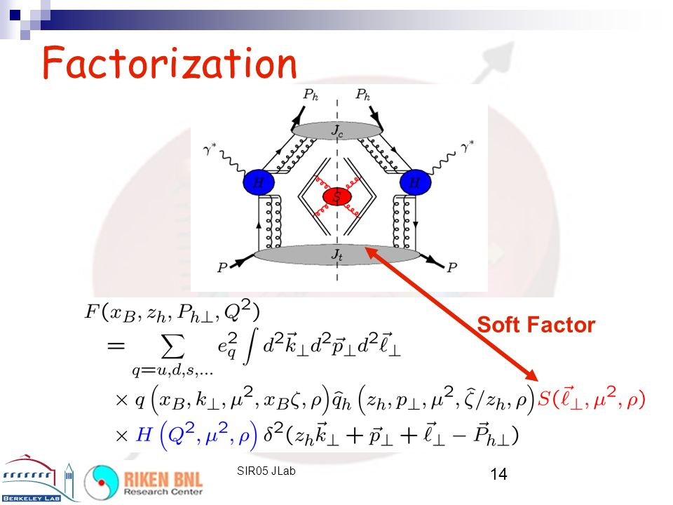 14 SIR05 JLab Factorization Soft Factor