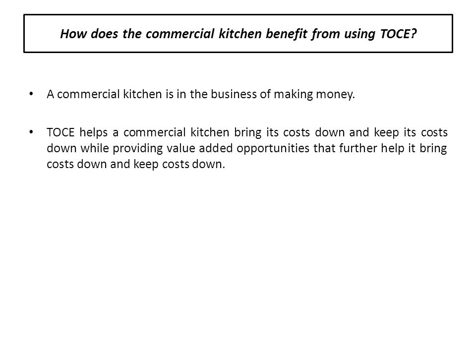 The Online Commodity Exchange Limited Commercial Kitchen Information ...