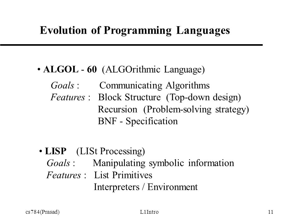 Cs784prasadl1intro1 Systematic Development Of Programming
