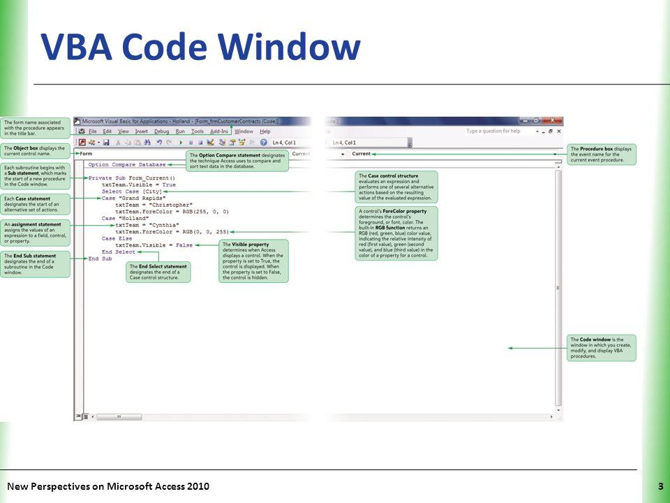 Microsoft Access 2010 Tutorial 11 Using and Writing Visual