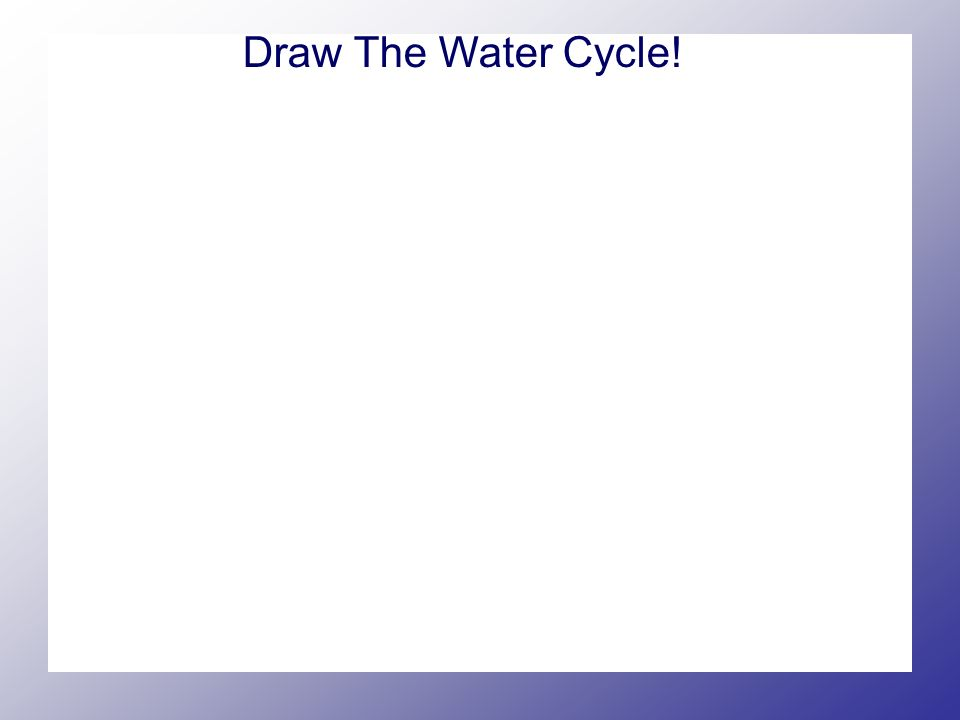Draw The Water Cycle!