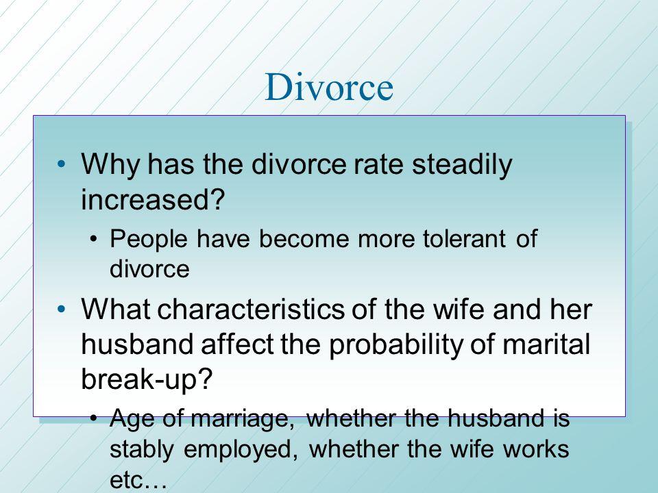 why has divorce increased