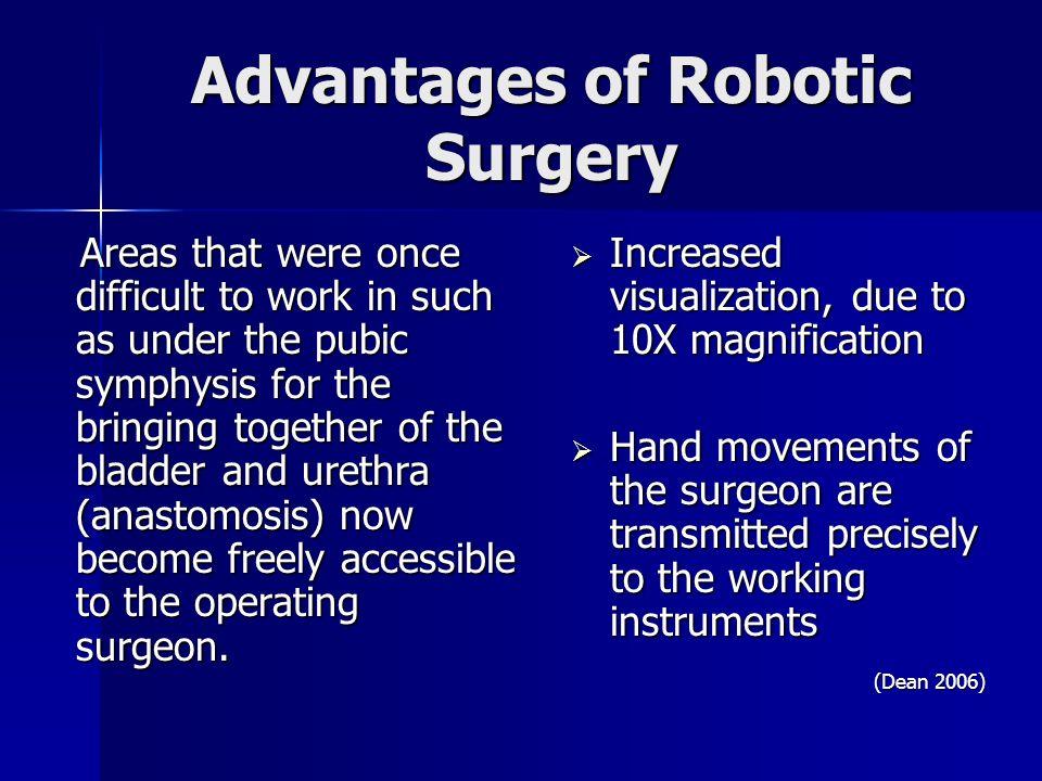 Robotic surgery.