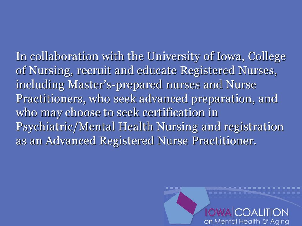 Iowa Coalition On Mental Health And Aging Education And Training