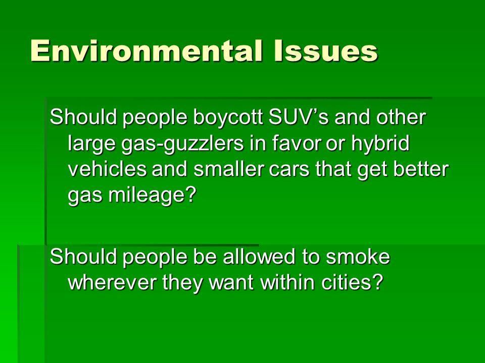 environmental controversial topics