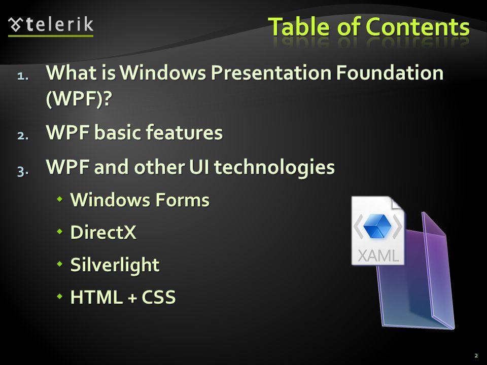 Next Generation for Desktop Applications Doncho Minkov Telerik