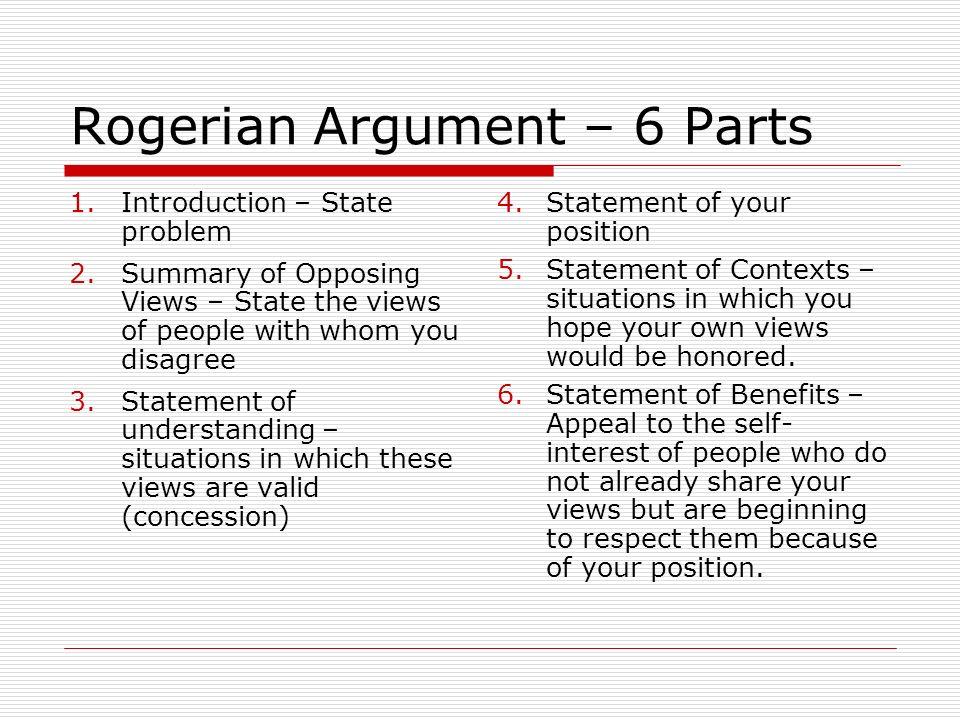 rogerian argument format