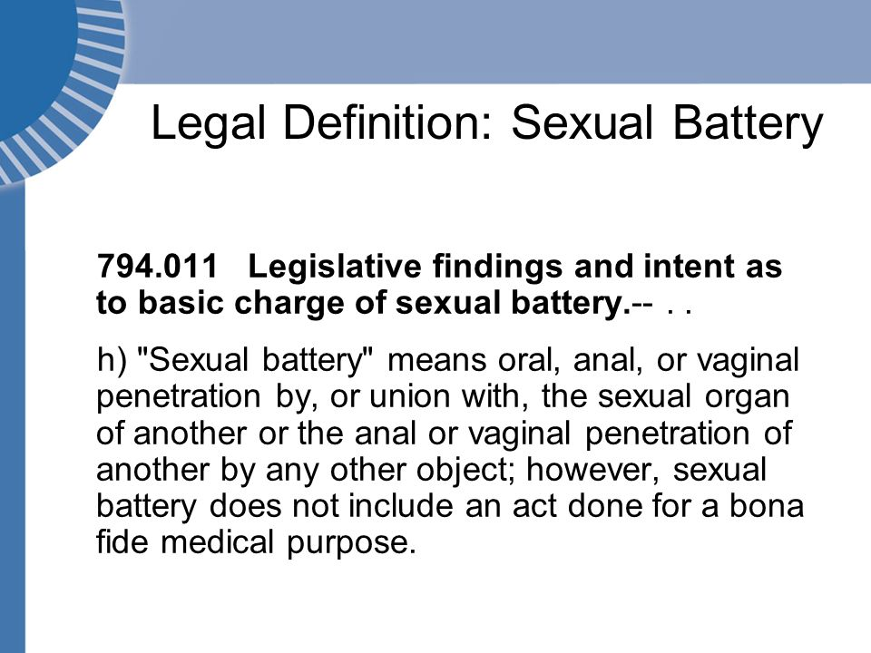 Define sexual battery