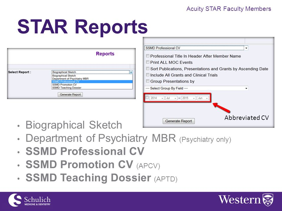 Acuity STAR Faculty Members  Acuity STAR for Clinical