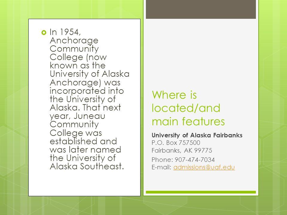University of Alaska Marcos   In 1954, Anchorage Community
