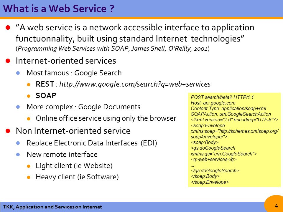 REST vs SOAP for Web Services Applications and Services in