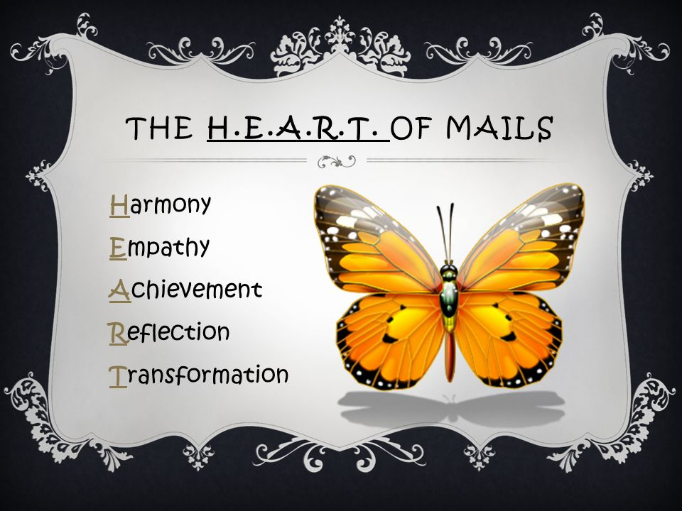 THE H.E.A.R.T. OF MAILS Harmony Empathy Achievement Reflection Transformation