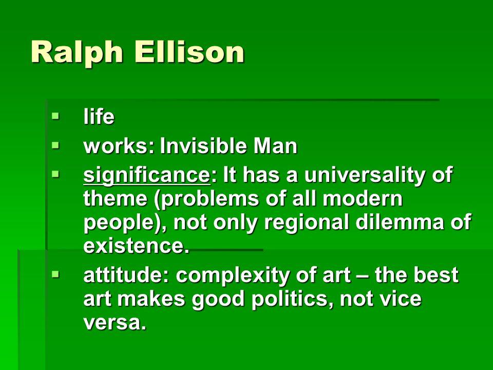 invisible man ralph ellison themes