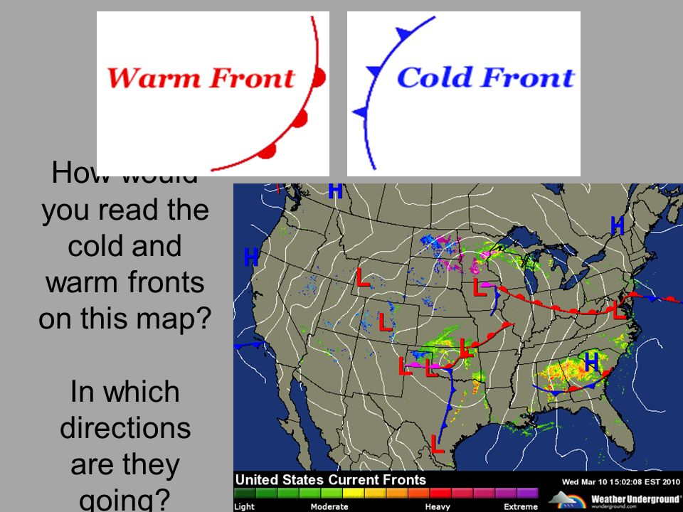 Cold Front On Weather Map.Severe Weather How To Read A Weather Map Unit 11 Day Ppt Download