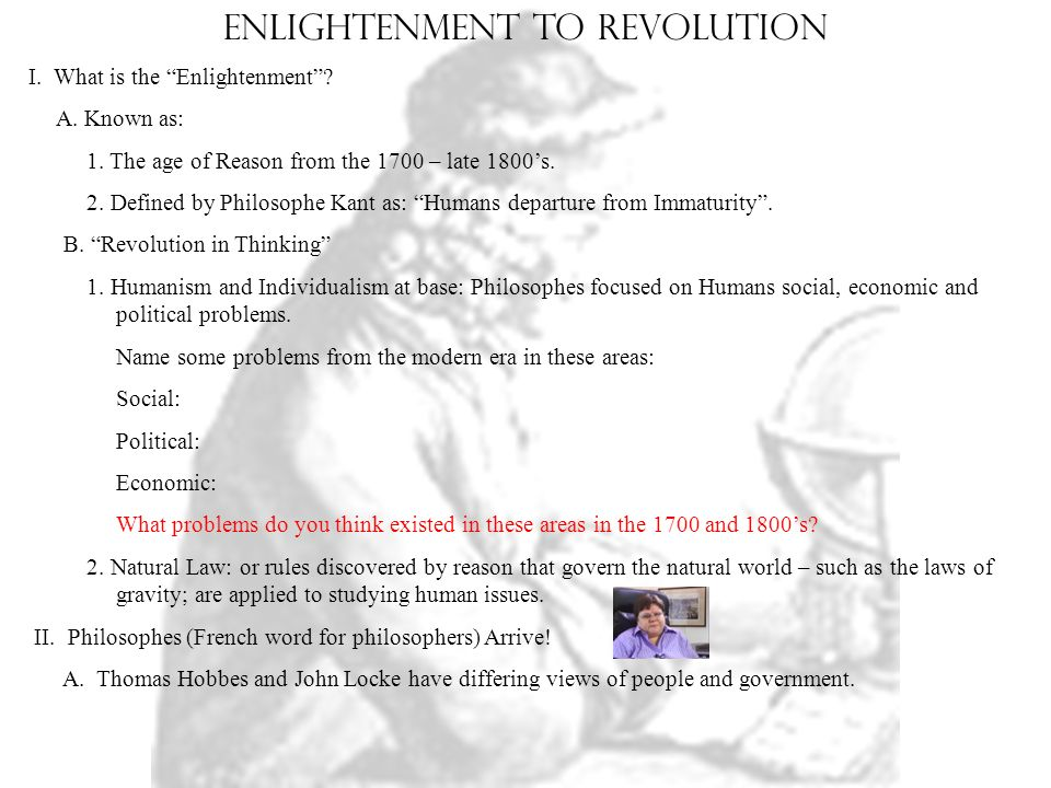 "Enlightenment to revolution I  What is the ""Enlightenment"