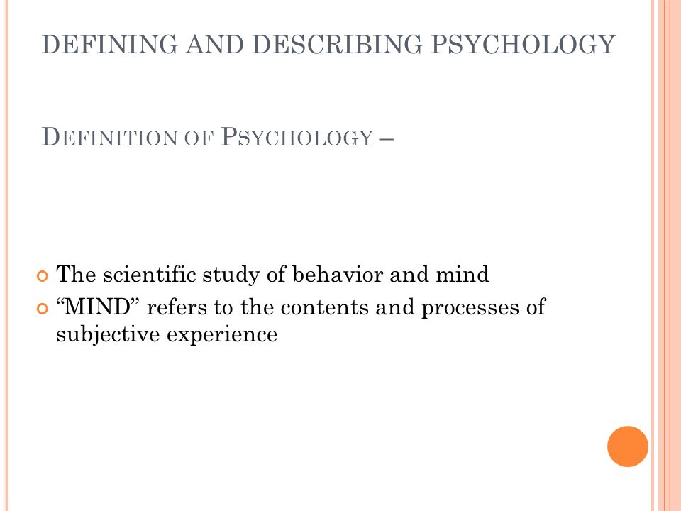 CHAPTER 1 AP PSYCHOLOGY OUTLINE An Introduction to