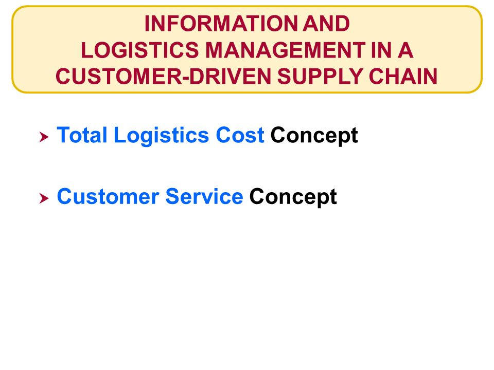 how is customer service related to logistics management