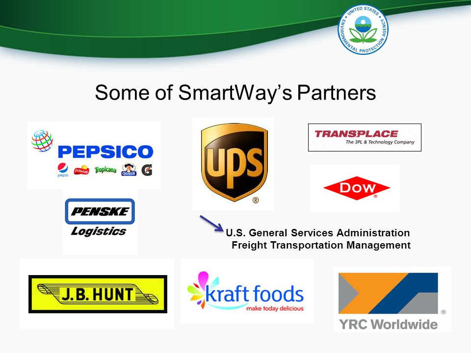Some of SmartWay's Partners U.S. General Services Administration Freight Transportation Management