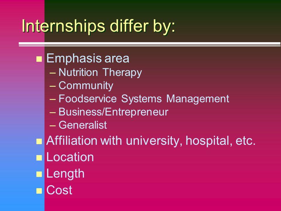 4 internships