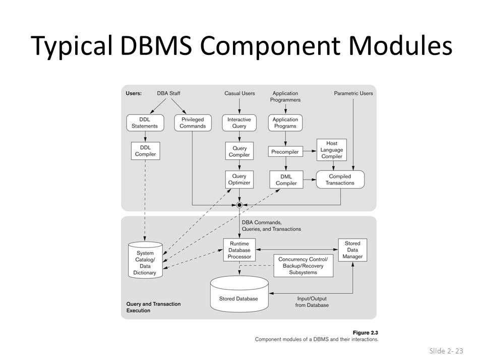 Typical DBMS Component Modules Slide 2- 23