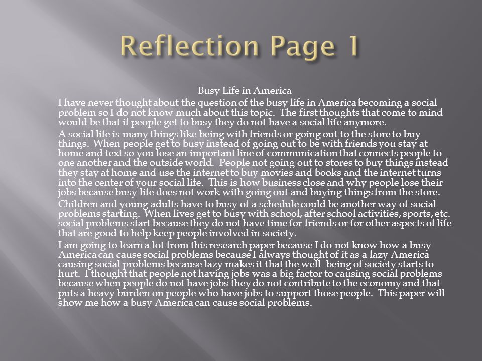 reflectionpaper A reflection paper is an essay in which you are to describe your thoughts and ideas about something, usually connected with experiences of your own.