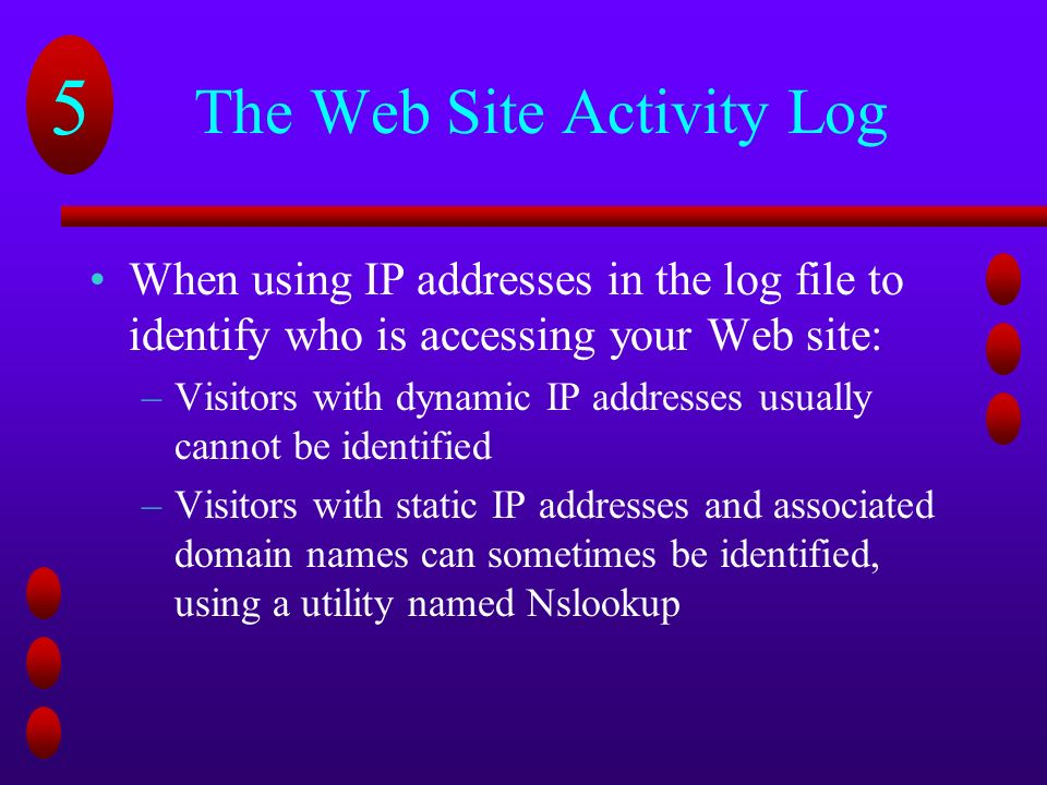 5 Chapter Five Web Servers  5 Chapter Objectives Learn about