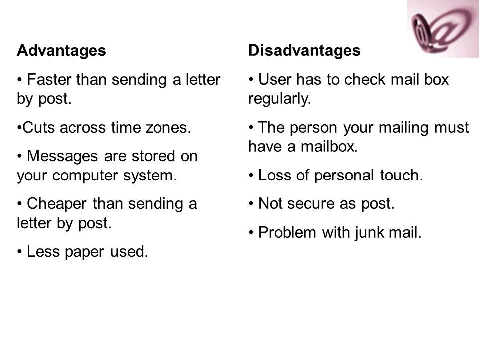 advantages of sending letters