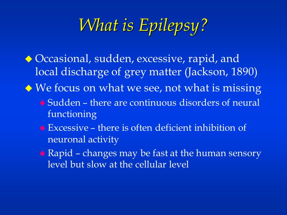 Controlling Seizures Staying Health Orrin Devinsky, M D  Department