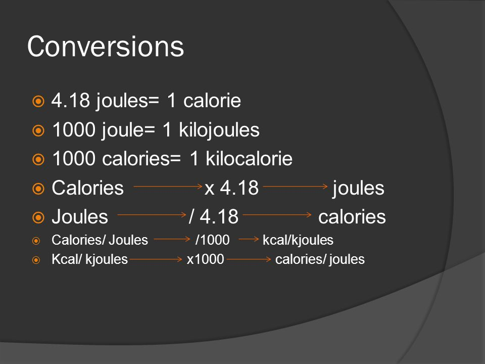 are joules and calories the same