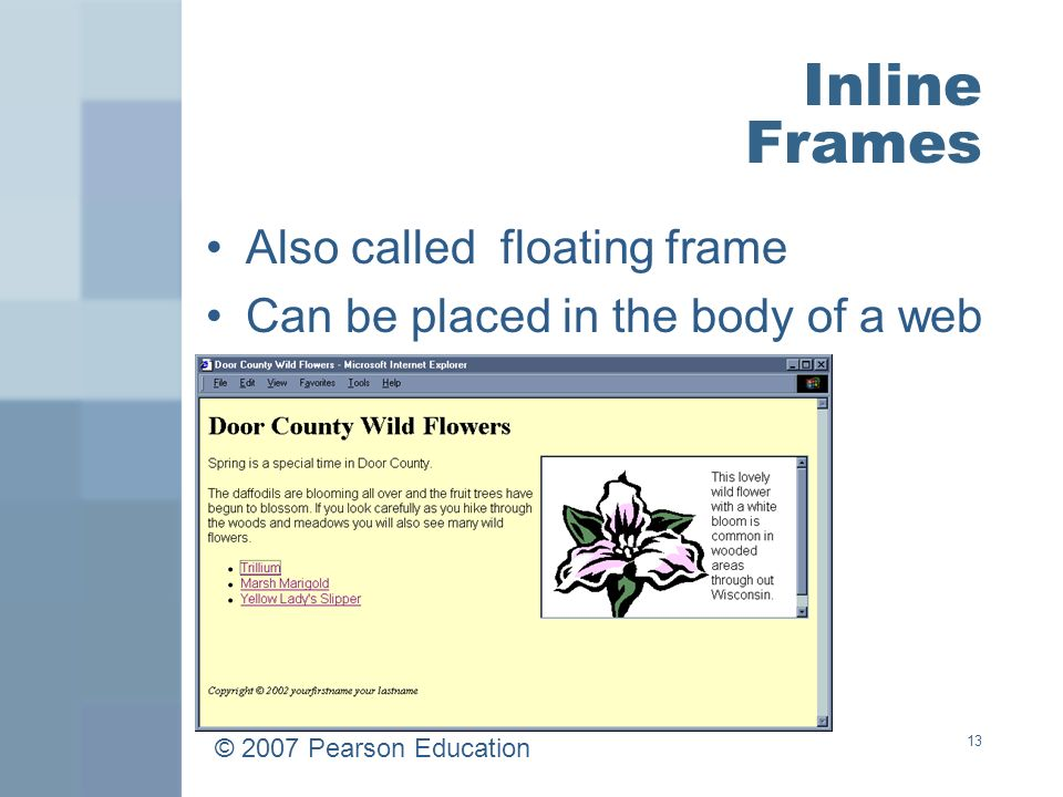 1 Web Developer & Design Foundations with XHTML Chapter 5 Key ...
