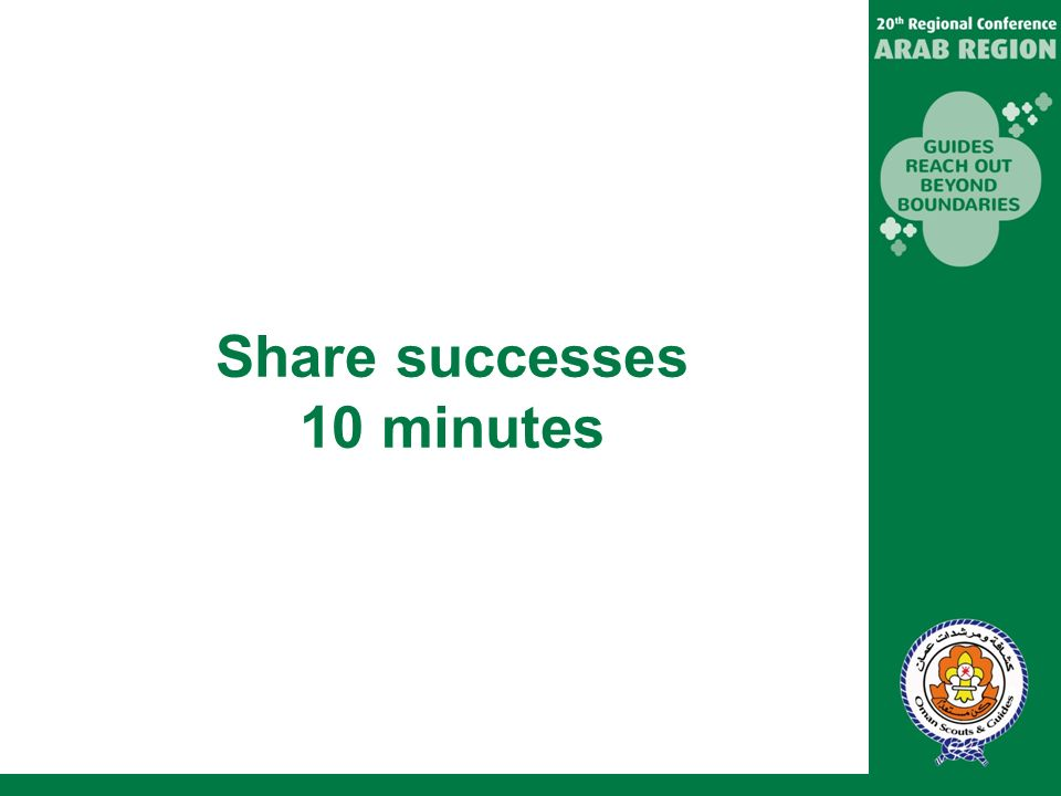 Share successes 10 minutes