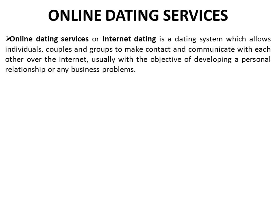 Value proposition for online dating