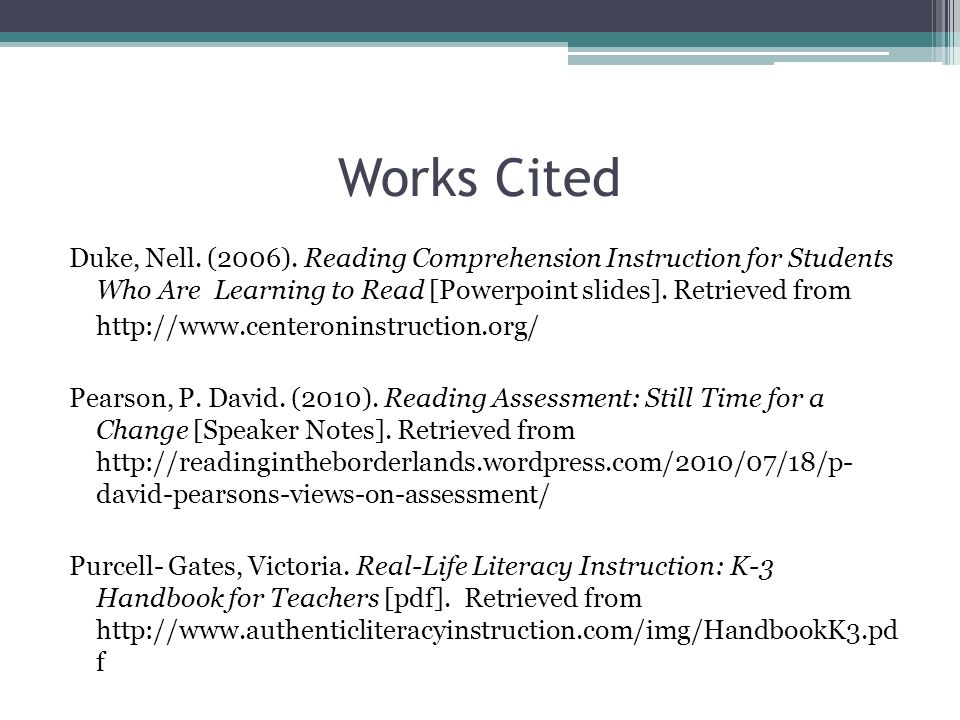 Authentic Assessments for Reading Comprehension By Jennifer