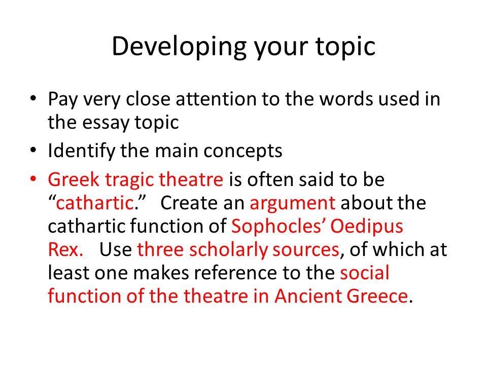 oedipus rex essay topics