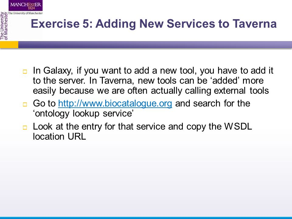  In Galaxy, if you want to add a new tool, you have to add it to the server.