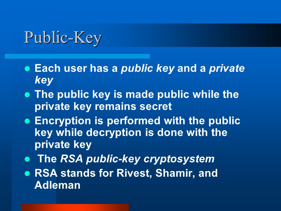 RSA Implementation  What is Encryption ? Encryption is the