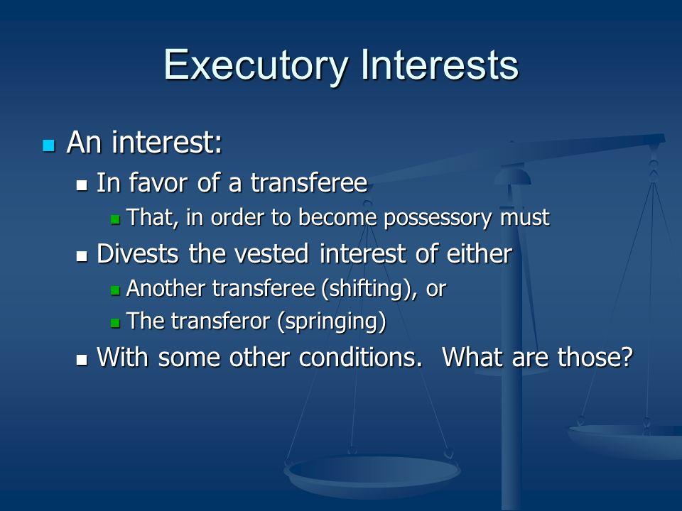 executory interest rap