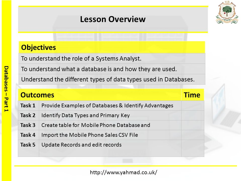 Databases – Part 1 Databases– Part 1 Lesson 1 & ppt download