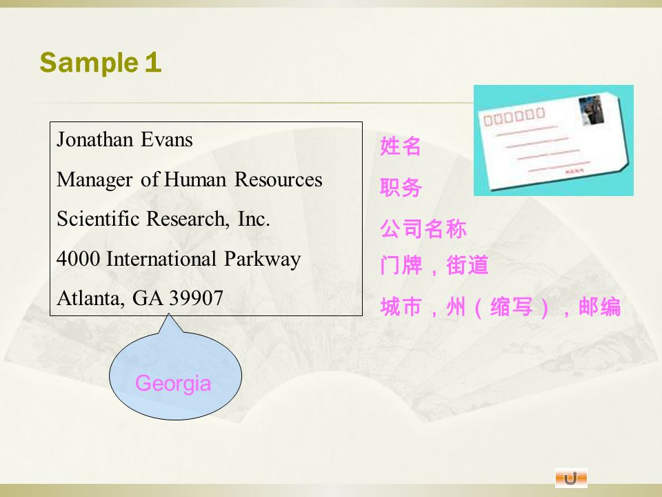 Address Format Contents About Address Format Before A Letter Or A