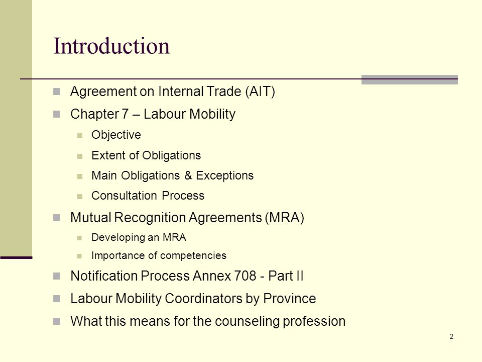 Agreement On Internal Trade Chapter 7 Labour Mobility Implications