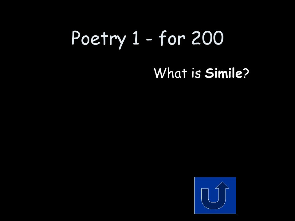 Poetry 1 - for 200 Remember to phrase your answer in the form of a question.