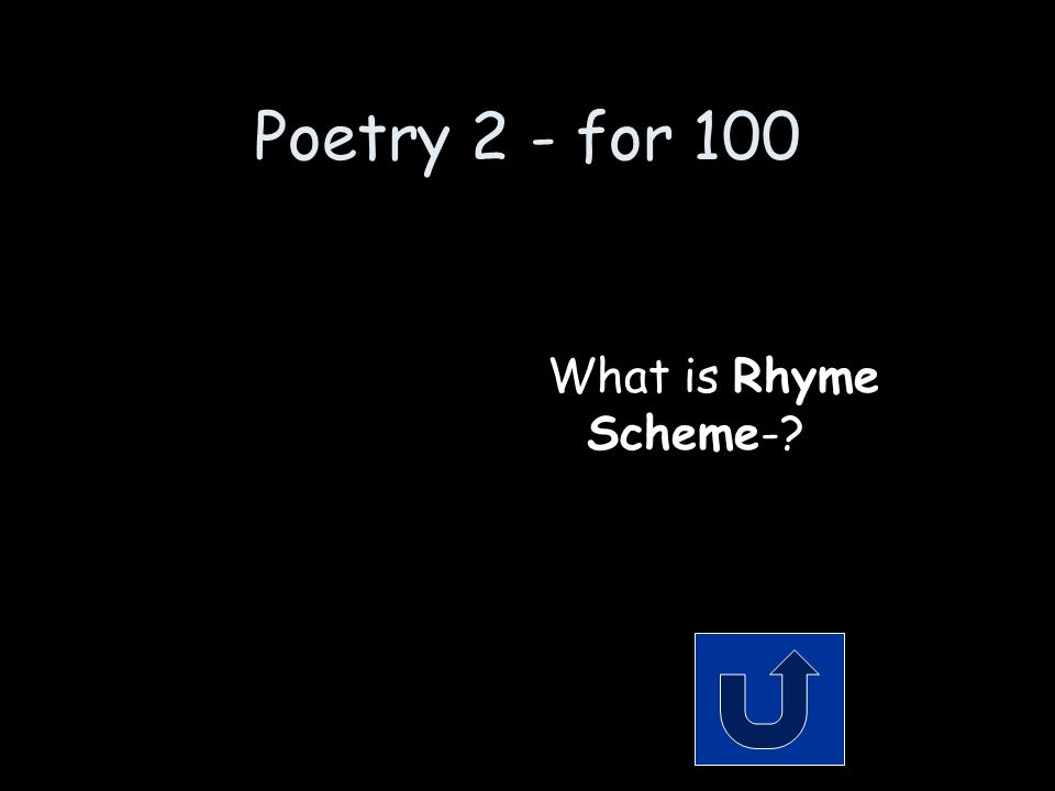 Poetry 2 - for 100 Remember to phrase your answer in the form of a question.